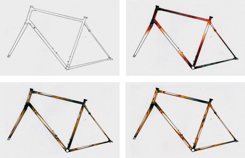 Bontrager paint scheme sketches