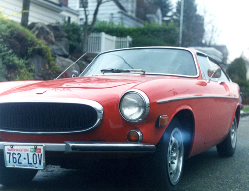my orange 1973 Volvo P1800ES