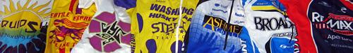 the racing jerseys of Daniel P. Johnston