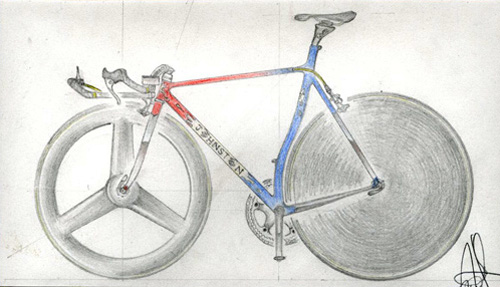 TT bike design sketch
