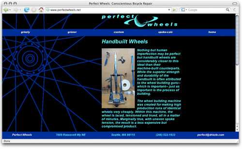 Perfect Wheels Web Site / Wheels