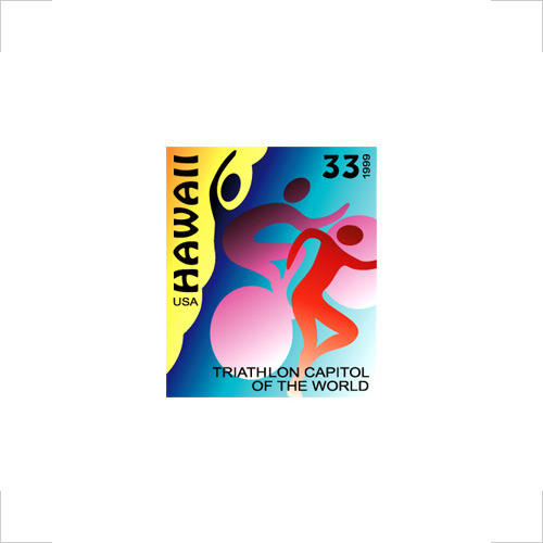 Hawaii Triathlon postage stamp