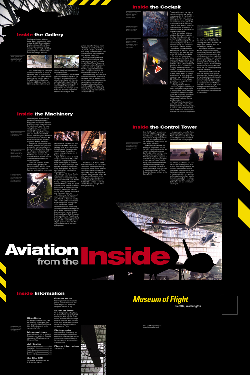 Seattle Museum of Flight poster/mailer inside/front