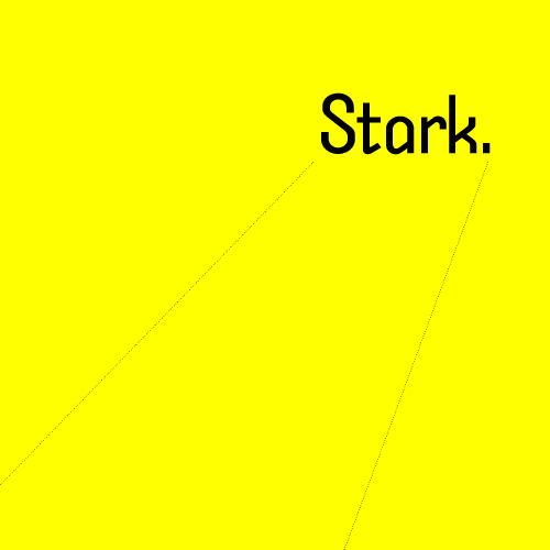 Stark typeface design by Daniel P. Johnston
